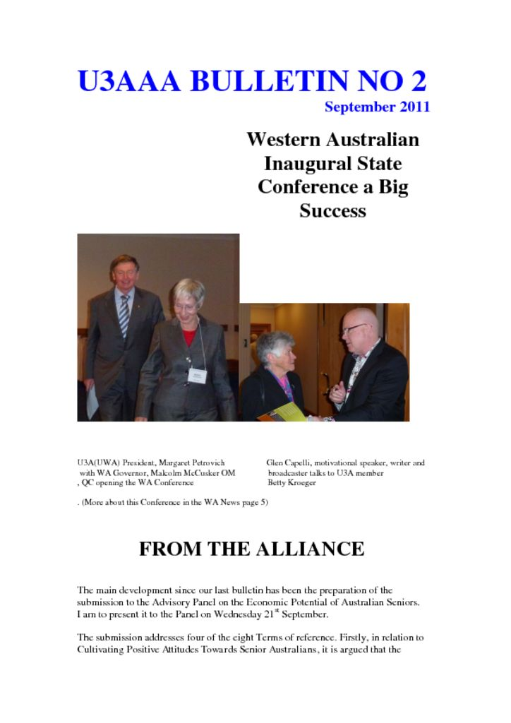 thumbnail of U3AAA BULLETIN SEPTEMBER 2011